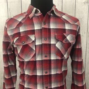 Converse Medium Red Check Pearl Snap Shirt